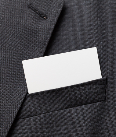 businesscard: Business card in a suit pocket
