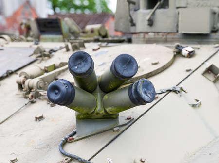 tank chaffe dispenser  close up