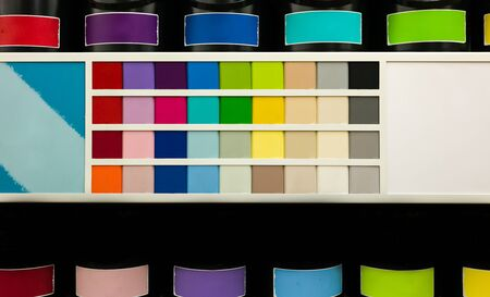 Paint can and color chart