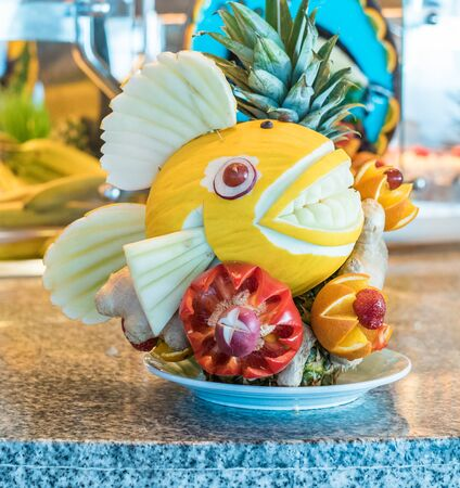 Food carving close up image