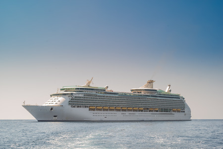 Cruise ship on the ocean
