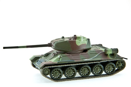 green military miniature: Model of tank Stock Photo
