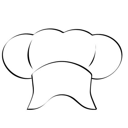 restaurateur: Chapeau de chef Illustration