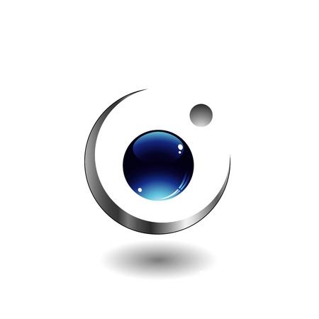 picto:  3d ball logo