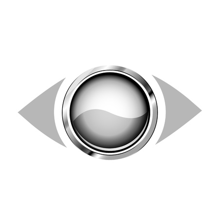 3d eye logo Vector