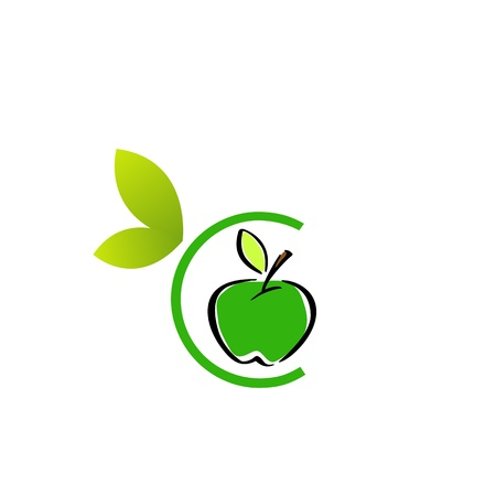 Apple Logo  イラスト・ベクター素材