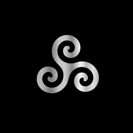 in the reconstruction: Celtic Neopaganism triple spiral triskelion Illustration