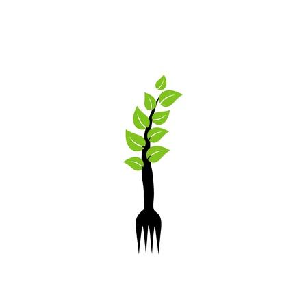有機食品のロゴ  イラスト・ベクター素材