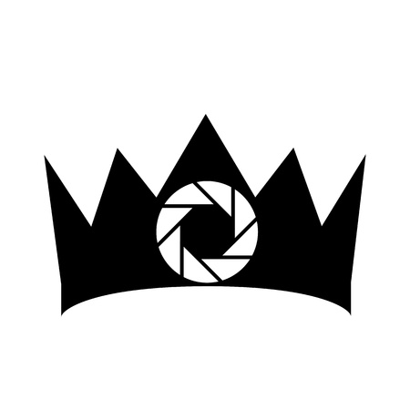 handy cam: Crown photography icon