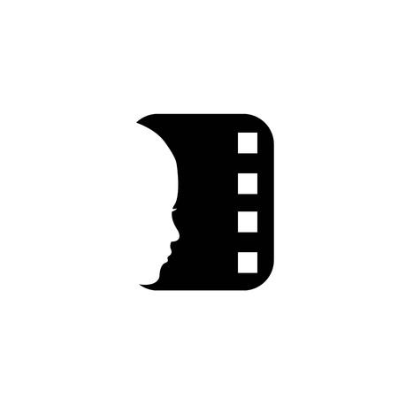 映画のロゴ  イラスト・ベクター素材