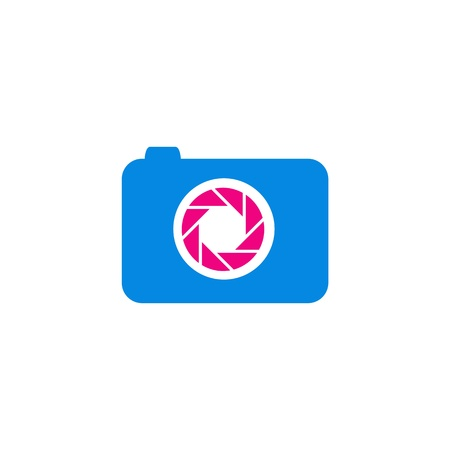 handy cam: digital camera in pink and blue