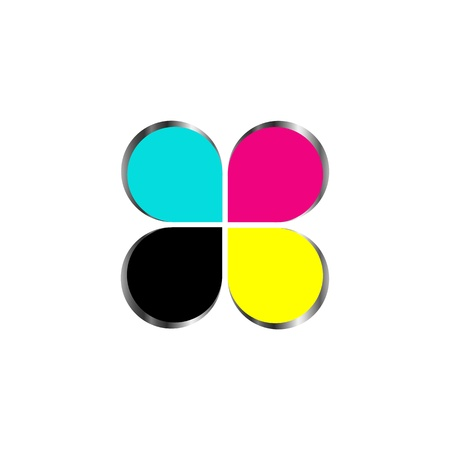 CMYK print icon Illustration