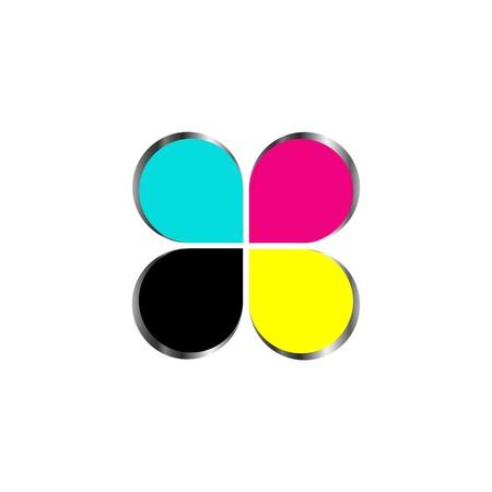 offset printer:  CMYK print icon