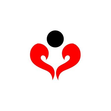 abstract man shaped like a heart Stock Vector - 19338445