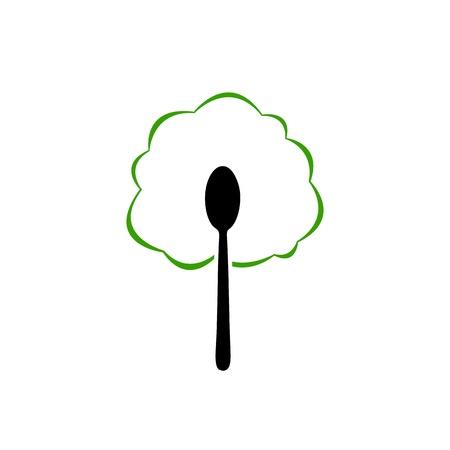 Organic food spoon icon Stock Vector - 19338323