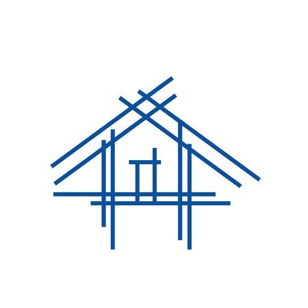 Vastgoed stok huis pictogram