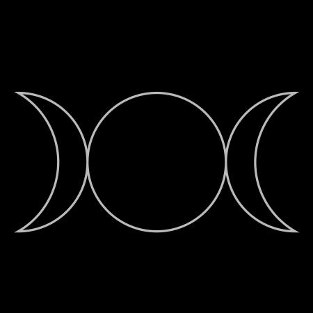 Wiccan symbol, Triple Goddess Neopaganism