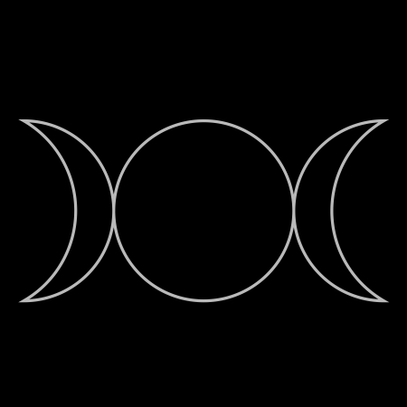 phases: Wiccan symbol, Triple Goddess Neopaganism