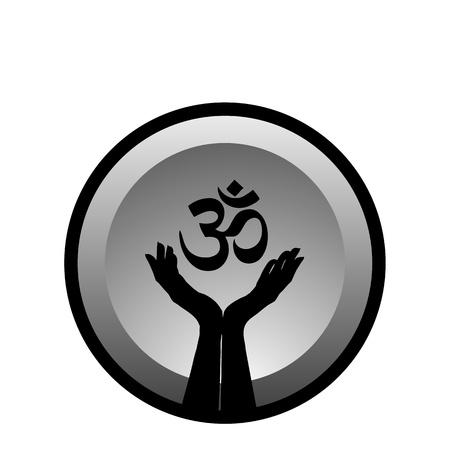 hinduismo: S�mbolo religioso del hinduismo-Pranava Vectores