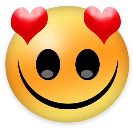 shyness: in love smiley Stock Photo