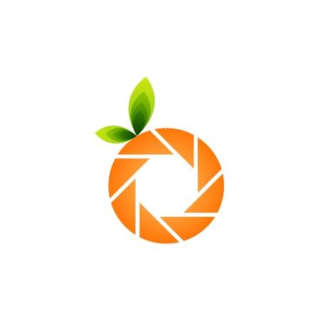 hotshot: Fotografia icona a forma di arancia con foglie