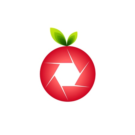 photographer icon shaped like fruit Vector