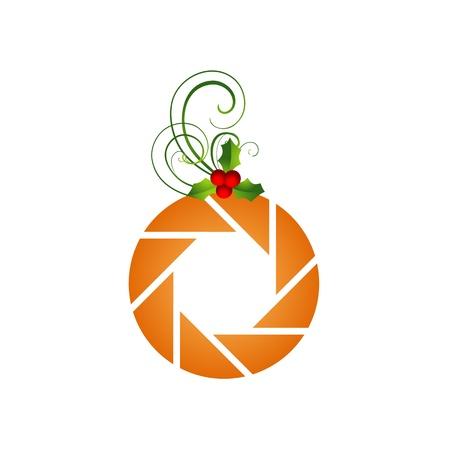 photographer icon with an orange Stock Vector - 19396452