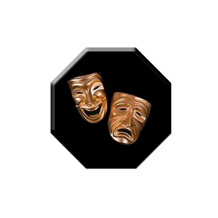 mask button Stock Photo - 19396412