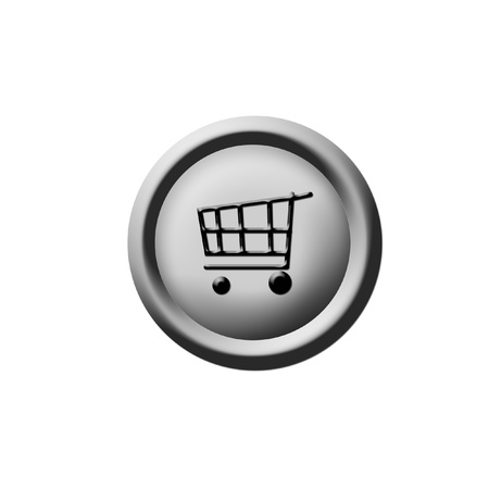 3d shopping cart button photo