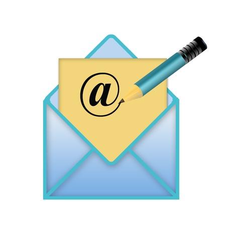 email icon yellow Stock Photo - 19396437