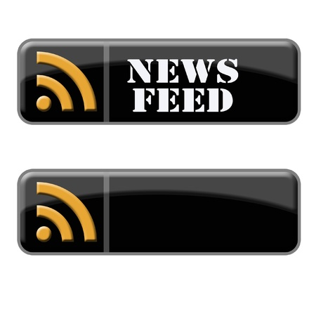 newsfeed: black 3d button