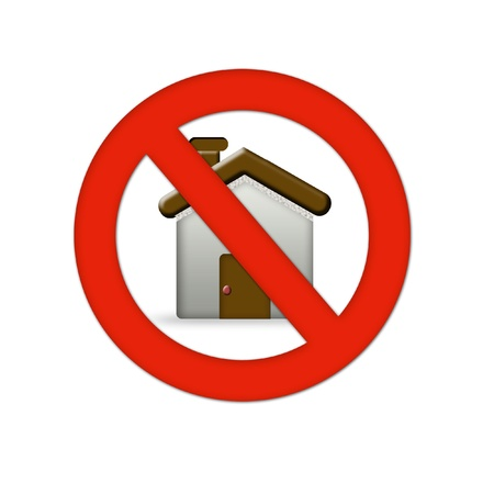 home error icon Stock Photo - 19396408