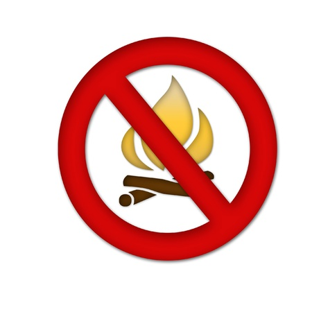 fire danger sign photo