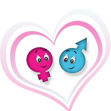 sweet girl and boy emoticon photo