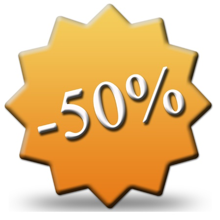 50 percent discount photo