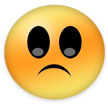 timid: sad smiley Stock Photo