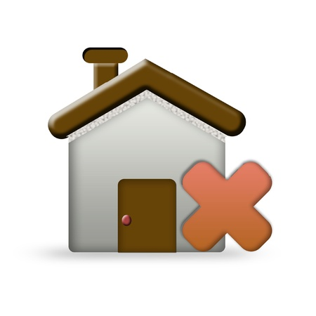 home error icon Stock Photo - 19396648
