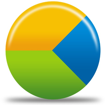孤立した円グラフのアイコン 写真素材