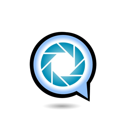 Q 形写真アイコン  イラスト・ベクター素材