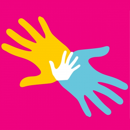 Pop art hands