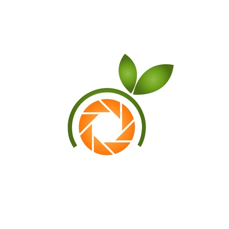 handy cam: photographer icon with an orange