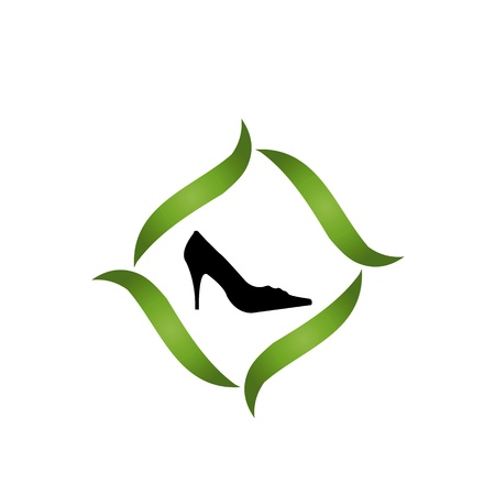 Eco friendly shoe business Vector