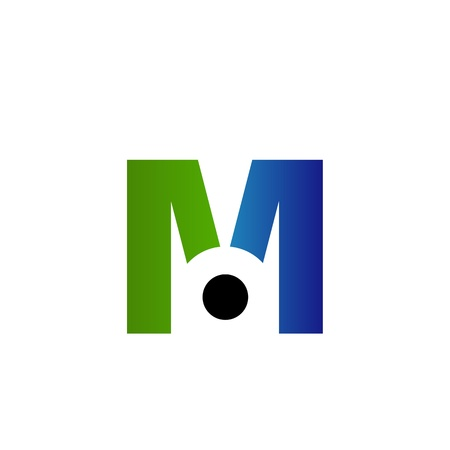 illustration of abstract letter M Vector