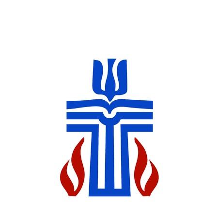 Symbol of Presbyterian religion Illustration