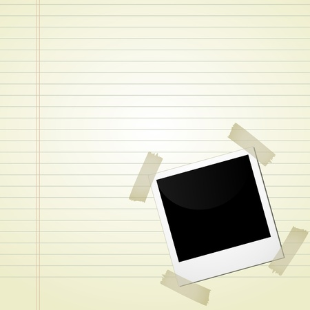 picture on notebook Vector