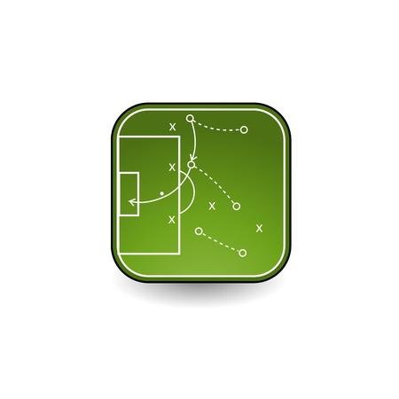 tactics board icon 向量圖像