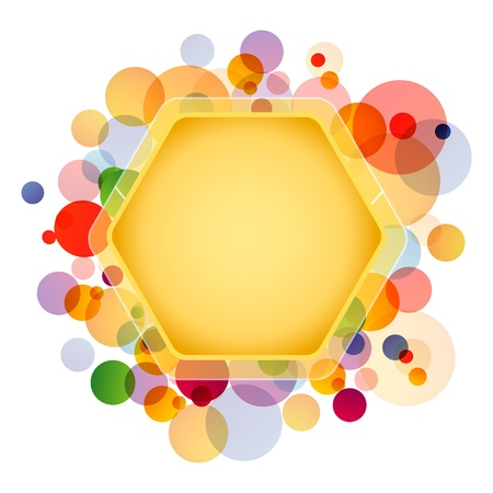 Grafische Honeycomb Element