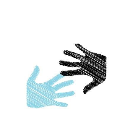 picto: Pop Art Hands Illustration