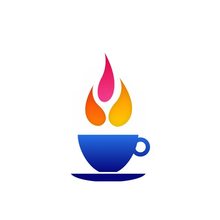 Flame coffee Vector