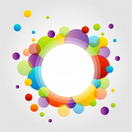 カラフルな円の設計要素
